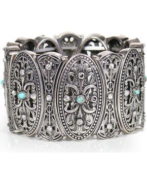 Shyanne Women's Vintage Medallion Cuff Bracelet, Silver, hi-res