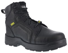 "Rockport More Energy Black 6"" Lace-Up Work Boots - Composition Toe, , hi-res"