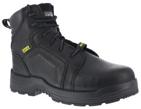 "Rockport More Energy Black 6"" Lace-Up Work Boots - Composition Toe, Black, hi-res"