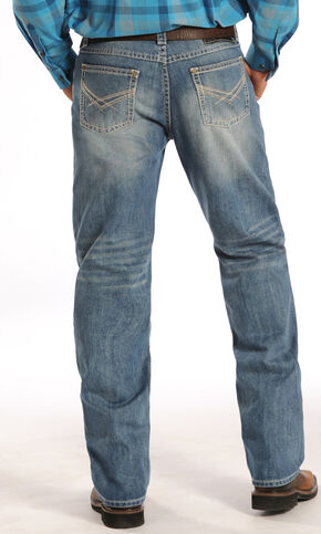 Rock and Roll Cowboy Tuf Cooper Competition Fit Light Wash Jeans, Denim, hi-res