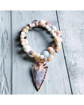 Jewelry Junkie Women's Faceted Amazonite Multi-Strand Bracelet , Multi, hi-res