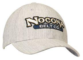 Nocona Wool Logo Embroidered Cap, Grey, hi-res