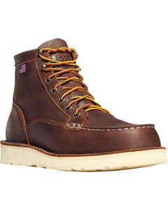 "Danner Men's Bull Run Moc Toe 6"" Work Boots - Soft Toe , , hi-res"