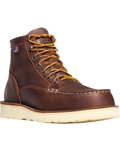"""Danner Men's Bull Run Moc Toe 6"""" Work Boots - Steel Toe , , hi-res"""