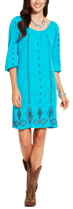 Ariat Women's Blue Wander Dress, Blue, hi-res