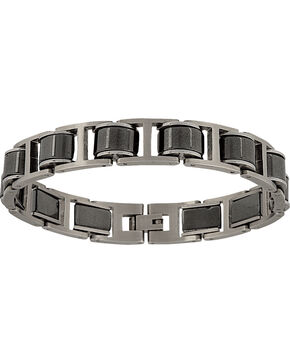 Montana Silversmiths Men's Stainless Steel Linked Bracelet, Silver, hi-res