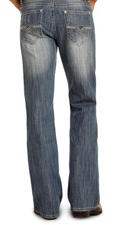 Rock & Roll Cowboy Men's Blue Double Barrel Jeans - Boot Cut , , hi-res