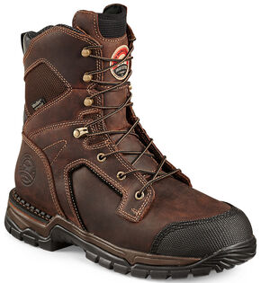 Red Wing Irish Setter Two Harbors Waterproof Hiker Work Boots - Steel Toe , Brown, hi-res