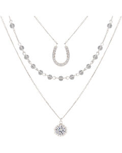 Montana Silversmiths Women's Fortune's Snowflake Necklace, , hi-res