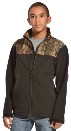 Red Ranch Boys' Bonded Jacket with Camo Yoke, , hi-res