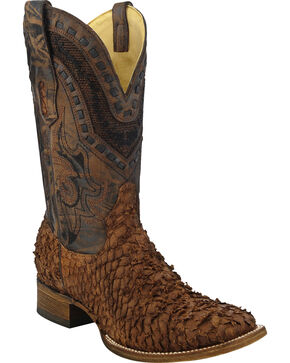 Corral Gnarly Sea Bass Cowboy Boots - Square Toe , Brown, hi-res
