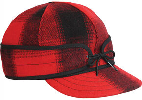 Stormy Kromer Men's Mackinaw Cap, Red, hi-res