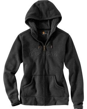 Carhartt Women's Clarksburg Zip Front Hooded Sweatshirt, Hthr Chrcl, hi-res