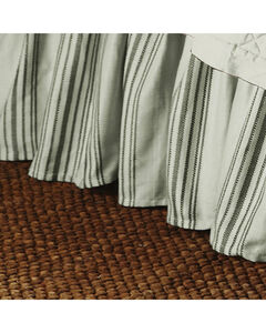HiEnd Accents Prescott Taupe Stripe Bedskirt - King, , hi-res