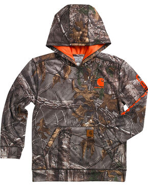 Carhartt Youth Boy's Realtree Camo Hoodie, Camouflage, hi-res