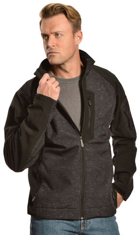 Cinch Black and Grey Logo Jacket , Black, hi-res