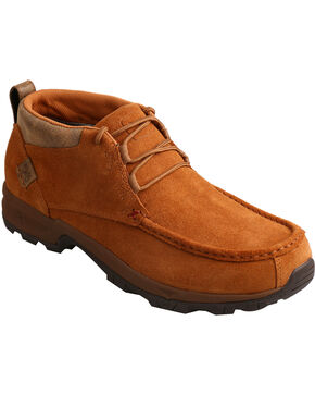 Twisted X Men's Waterproof Hiker Shoes - Moc Toe, Tan, hi-res