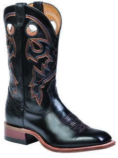 Boulet Torino Black Calf Boots - Square Toe, , hi-res