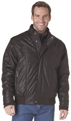 Cripple Creek Zip-Front PVC Jacket - Brown, , hi-res