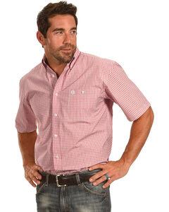 George Strait by Wrangler Men's Plaid Short Sleeve Shirt , , hi-res
