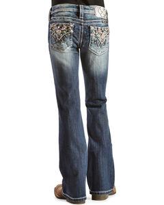 Miss Me Girls' Starburst Embellished Back Pocket Jeans, , hi-res
