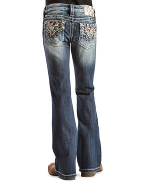 Miss Me Girls' Starburst Embellished Back Pocket Jeans, Denim, hi-res