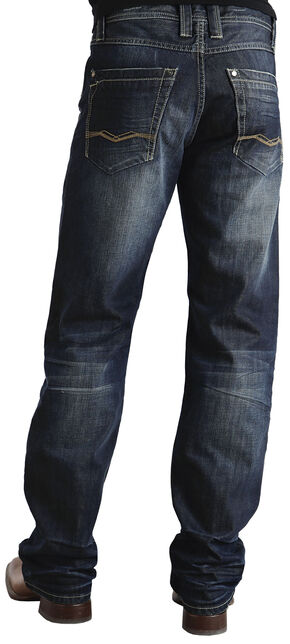 Stetson Modern Fit Stitched Jeans, Dark Stone, hi-res