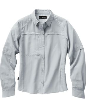 Dri Duck Women's Release Long Sleeve Shirt - Plus, Grey, hi-res