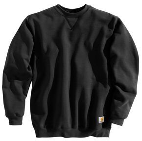 Carhartt Midweight Crew Neck Sweatshirt - Big & Tall, Black, hi-res