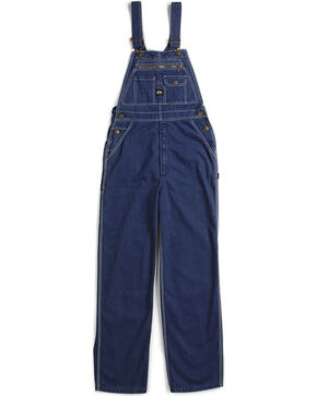 Key Industries Denim Bib Overalls, Denim, hi-res