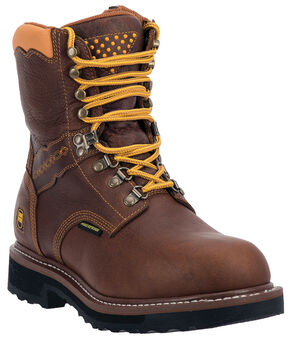 Dan Post Scorpion Waterproof Lacer Zippered Work Boots - Steel Toe, Brown, hi-res