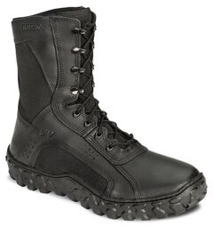 "Rocky S2V Vented 8"" Lace-Up Military Boots - Round Toe, , hi-res"