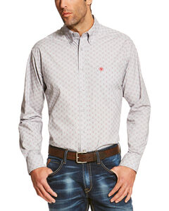 Ariat Men's Silver Reyes Sconce Long Sleeve Western Shirt , Silver, hi-res