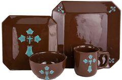 HiEnd Accents Cross Dinnerware Set, , hi-res