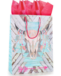 BB Ranch Follow Your Arrow Gift Bag with Tissue Paper , No Color, hi-res