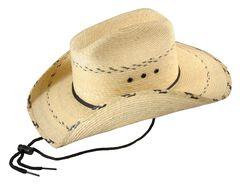 Bullhide Kids' Miller Jr. Leaf Straw Cowboy Hat, , hi-res
