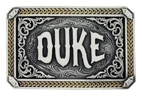 "Montana Silversmiths Two-Tone John Wayne ""The Duke"" Attitude Belt Buckle, Multi, hi-res"