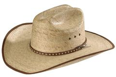 Resistol Brush Hog Mexican Palm Straw Cowboy Hat, , hi-res