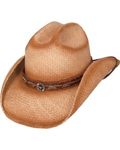 Bullhide Trail Boss Straw Cowgirl Hat, , hi-res