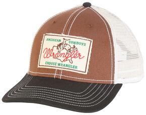 Wrangler Men's Brown Patch Western Cap , Brown, hi-res
