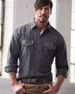 Ryan Michael Men's Aztec Silk Jacquard Shirt, , hi-res