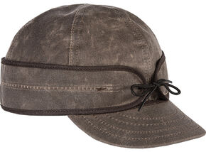 Stormy Kromer Men's Oak Waxed Cotton Cap, Oak, hi-res