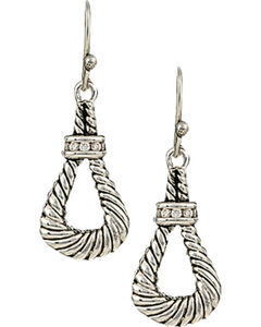 Montana Silversmiths Women's Twisted Rope Loop Earrings, , hi-res