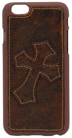 IPHONE 6 DIAGONAL CROSS CASE, Brown, hi-res