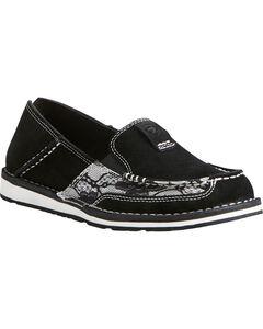 Ariat Women's Black Lace Cruiser Shoes - Moc Toe, , hi-res