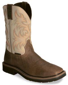 Justin Stampede Copper Western Work Boot - Steel Toe, , hi-res