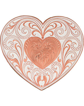 Montana Silversmiths Copper Heart Whispers Buckle, Copper, hi-res