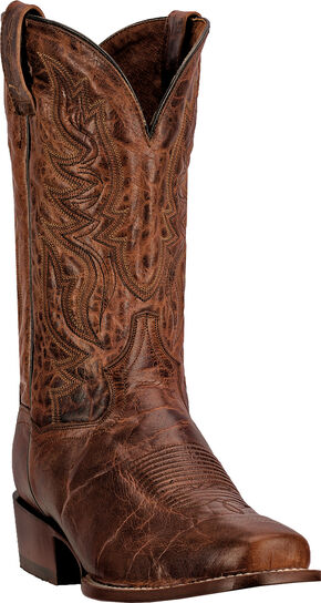 Dan Post Emerson Cowboy Boots - Square Toe, Cognac, hi-res