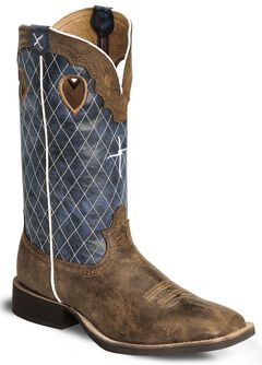 Twisted X Distressed Ruff Stock Cowboy Boot - Wide Square Toe, Distressed, hi-res