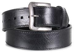 American Worker Men's Black Leather Stitch Belt, , hi-res